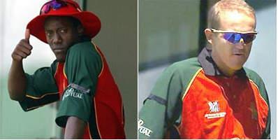 जिम्बाब्वे के हेनरी ओलांगा और एंडी फ्लावर ने रॉबर्ट मुगाबे सरकार का विरोध करने के लिए अपनी बांह पर काली पट्टी पहनकर मैच खेला था
