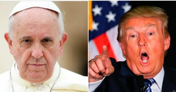 पोप फ्रांसिस ने डोनाल्ड ट्रंप के ईसाई होने पर सवाल उठाए, ट्रंप भड़के