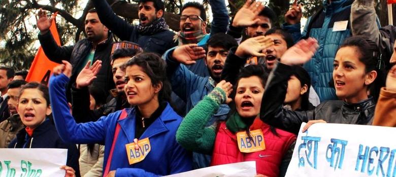 'एबीवीपी भी जेएनयू के साथ है, लेकिन उनके नहीं जिन्होंने देशविरोधी नारे लगाए'