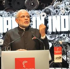 मोदी सरकार विदेश से लोगो बनवाने के अलावा भी 'मेक इन इंडिया' का मजाक उड़ाती रही है